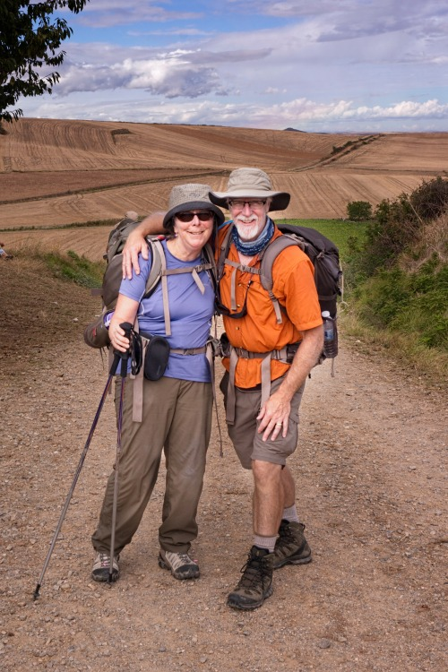 John and Terri on Camino-Edit